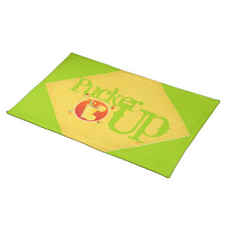 Pucker Up Cloth Placemat