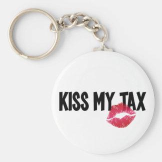 Pucker Up! Kiss My Tax! Keychain