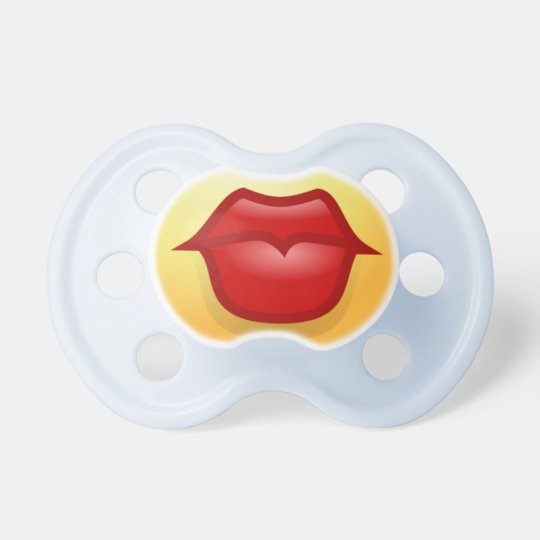 Pucker Up - Kissing Lips Baby Pacifier