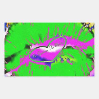 Pucker Up Lime Green Rectangular Sticker