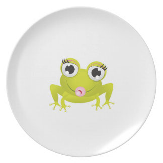 Puckering Frog on Plate