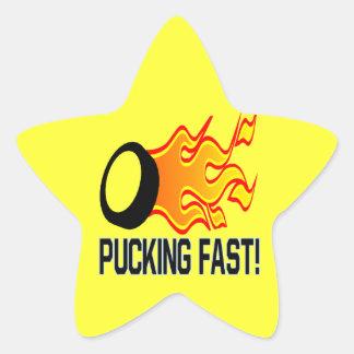 Pucking Fast Star Sticker