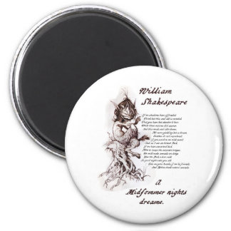 Puck's Soliloquy Midsummer Night's Shakespeare 2 Inch Round Magnet
