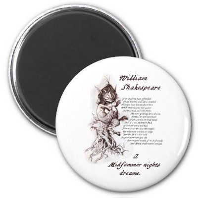 Puck's Soliloquy Midsummer Night's Shakespeare Magnets