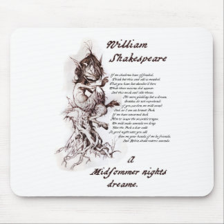 Puck's Soliloquy Midsummer Night's Shakespeare Mouse Pad