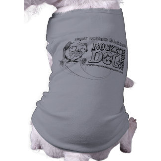 Puddin no persigue la camiseta playera sin mangas para perro