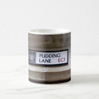 Pudding Lane EC3 Sign London Mug