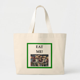 pudding large tote bag