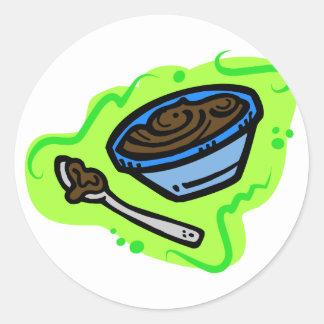 Pudding Round Sticker