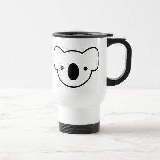 Pudding the Koala 15 Oz Stainless Steel Travel Mug
