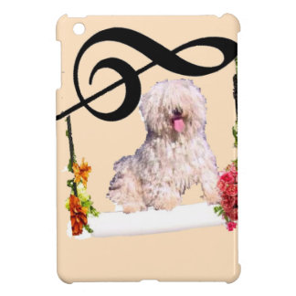 Puddle dog is rocking in a swing with flowers iPad mini covers