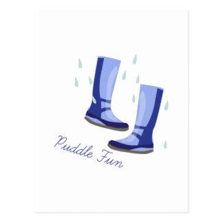 Puddle Fun Postcard