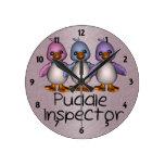 Puddle Inspector Ducks Wall Clock