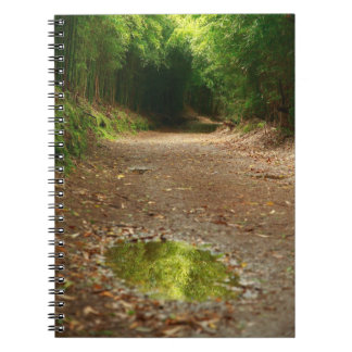 Puddle of water notebook