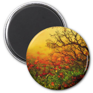 Puddle Paradise 2 Inch Round Magnet