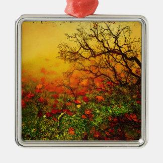 Puddle Paradise Metal Ornament