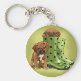 Puddles for Puggles Keychain