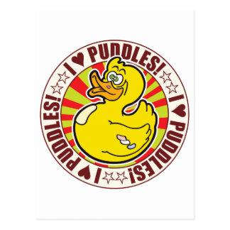 Puddles Love Duck Postcard
