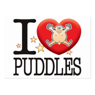 Puddles Love Man Large Business Cards (Pack Of 100)