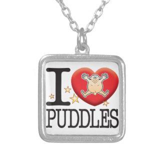 Puddles Love Man Square Pendant Necklace