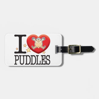 Puddles Love Man Tag For Bags