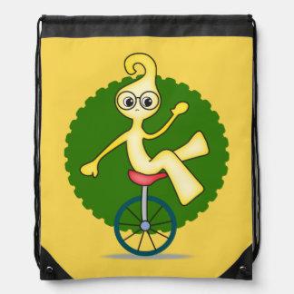 Puddy en una mochila del lazo del Unicycle