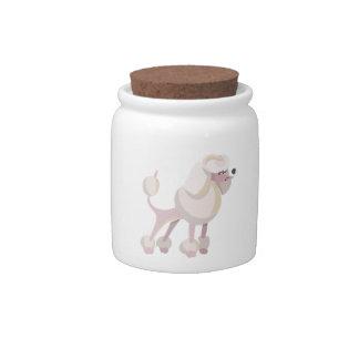 Pudel Hund poodle dog Candy Jar