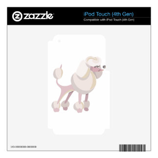 Pudel Hund poodle dog Decal For iPod Touch 4G
