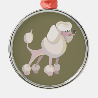 Pudel Hund poodle dog Metal Ornament