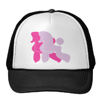 Pudel in Rosa pink Trucker Hat