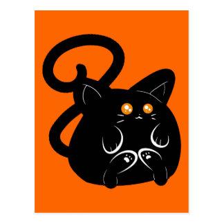 Pudgy Black Kitty Postcard
