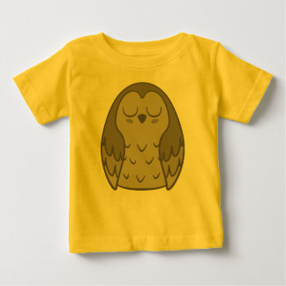 Pudgy Brown Owl Baby T-Shirt