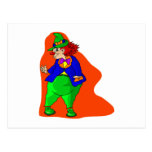 Pudgy Clown Postcard