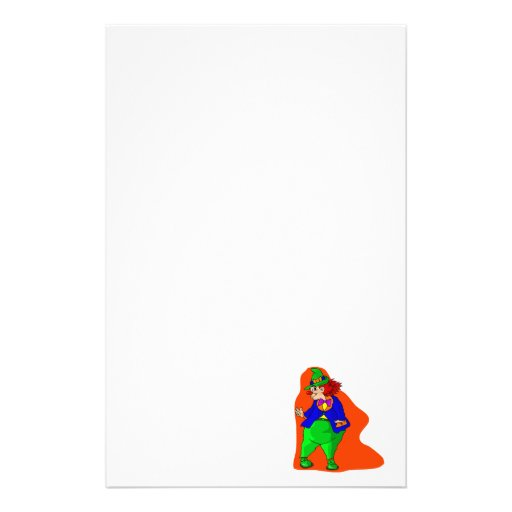 Pudgy Clown Stationery Design