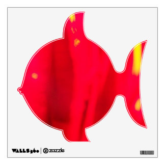 Pudgy-Fish Red-Wall-Decal© Roseanne Pears 2012. Wall Sticker