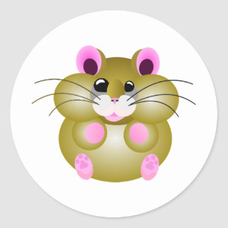 Pudgy Hamster Classic Round Sticker