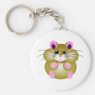 Pudgy Hamster Keychain