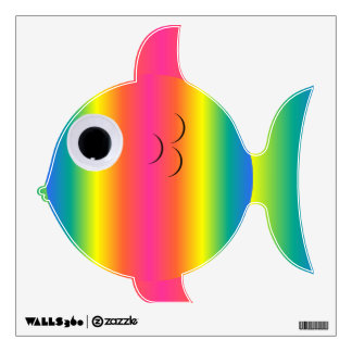 Pudgy Rainbow Fish Wall Decal
