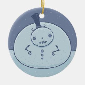 Pudgy Snowman Ornament