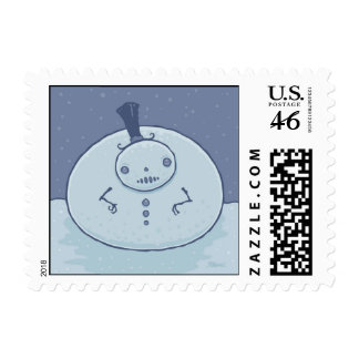 Pudgy Snowman Stamp