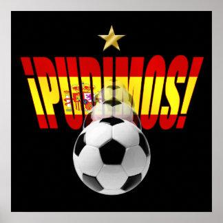 Pudimos Spain motivational World Champions logo Poster