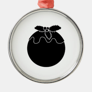 Pudín blanco y negro del navidad adorno de reyes
