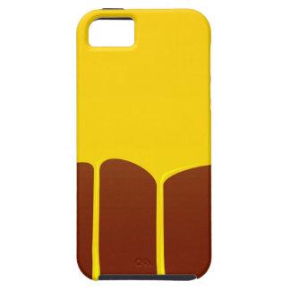 Pudín de las natillas y de chocolate funda para iPhone SE/5/5s
