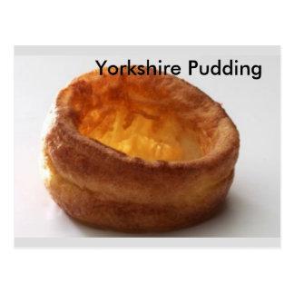 Pudín de Yorkshire Tarjeta Postal