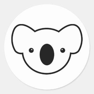 Pudín la koala etiqueta redonda