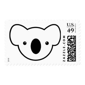 Pudín la koala timbres postales