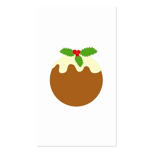 Pudín tradicional del navidad. En blanco Plantilla De Tarjeta Personal
