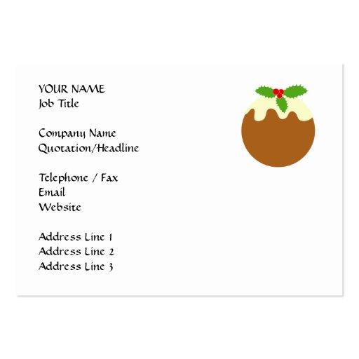 Pudín tradicional del navidad. En blanco Tarjetas Personales