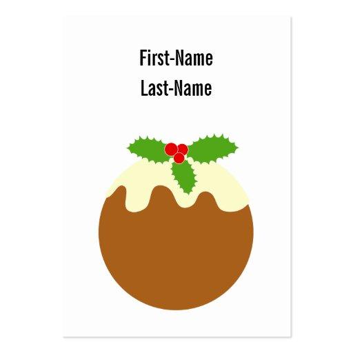 Pudín tradicional del navidad. En blanco Tarjetas De Visita