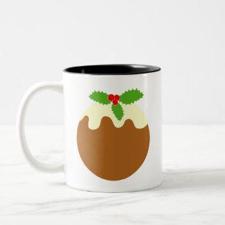 Pudín tradicional del navidad. En blanco Taza De Café